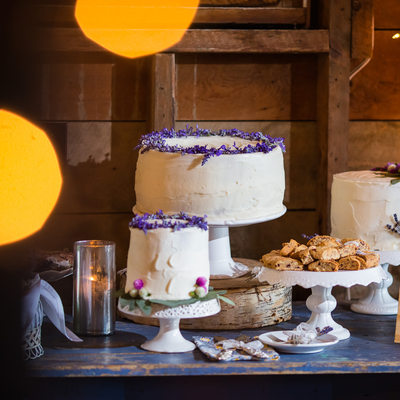 Vintage cake display southern wedding VT
