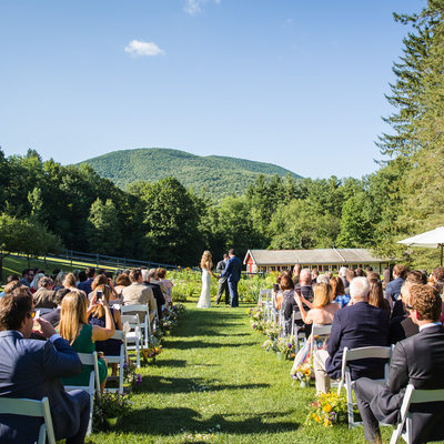 West Mountain Inn Wedding Ceremony
