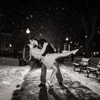 Winter Snow Engagement Session VT