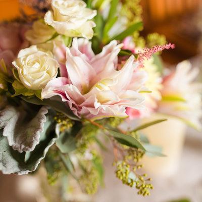 Soft pink wedding flowers vermont