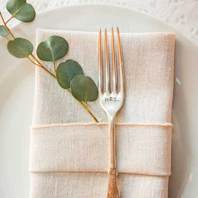 Vintage Mrs fork for bride