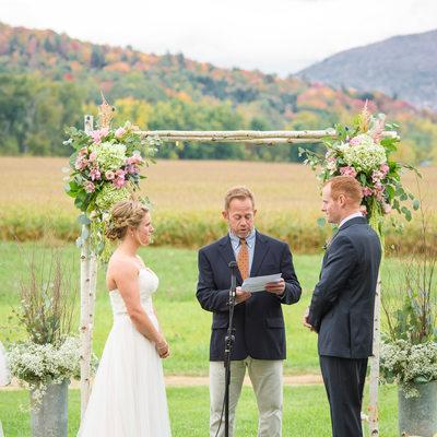 Wedding Ceremony Boyden Farm VT