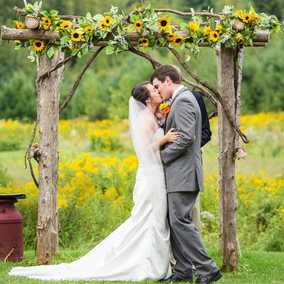 Wildflower wedding ceremony VT