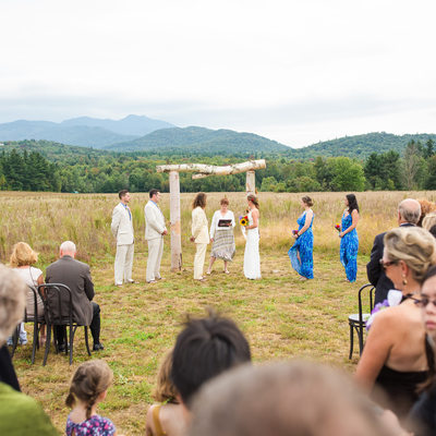 Smuggler's Notch Barn Wedding Ceremony