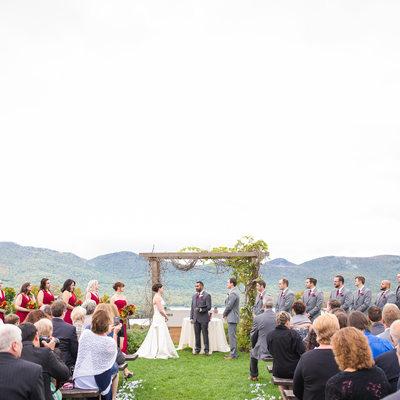 The Knoll wedding ceremony Mountain Top Inn