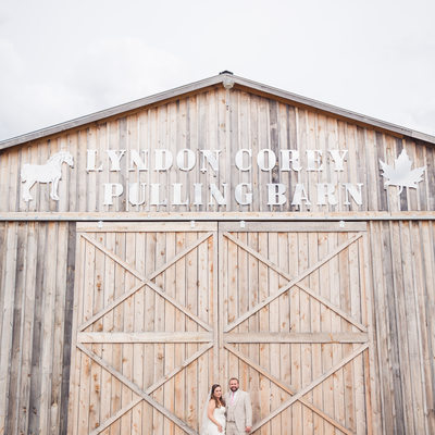 Pulling barn wedding photos