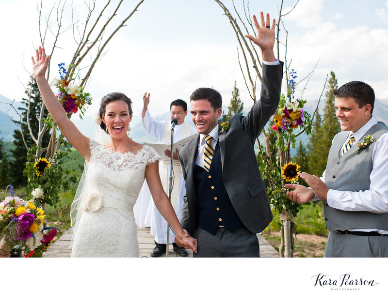 Wedding Ceremony Atop Crested Butte Mountain