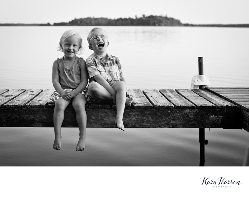 Child Portraits On A Lake In Minneapolis
