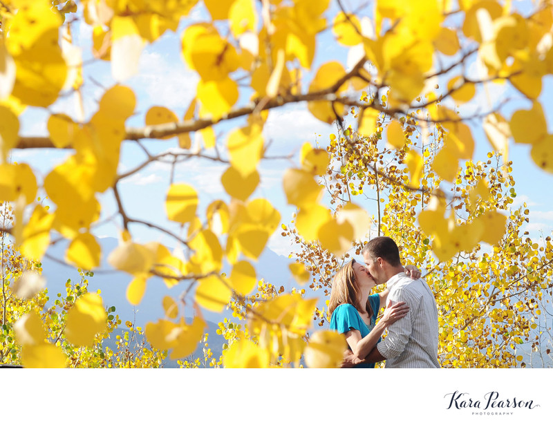 Golden Gate Canyon Park Engagement with Golden Aspens