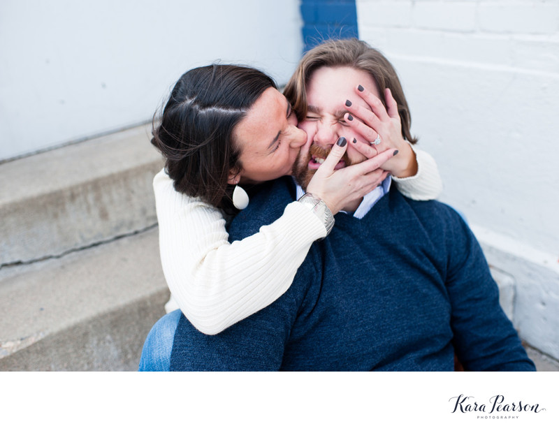 Fun Goofy Engagement Portraits On Colfax Avenue