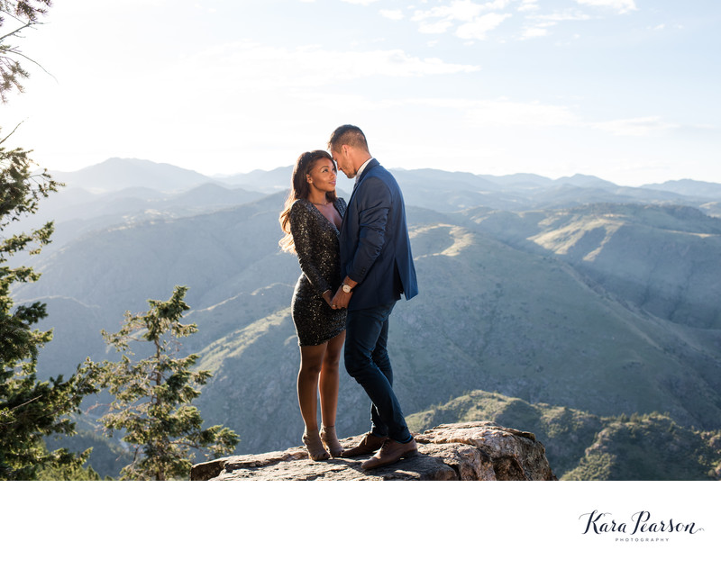Lookout Mountain Engagement Portrait At Sunset