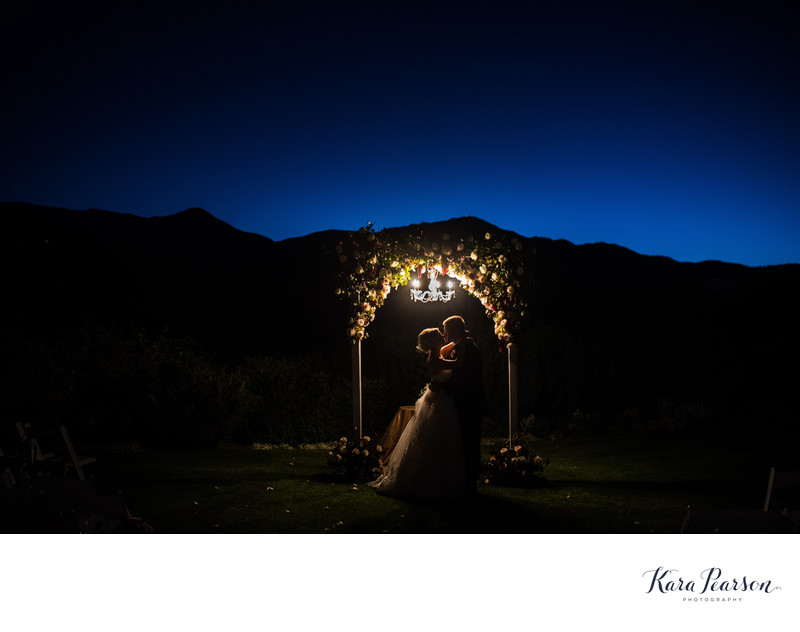 Garden Of The Gods Night Wedding Portraits
