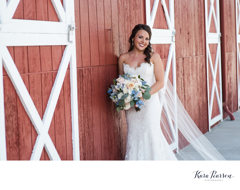 Bride At Crooked Willow Farms