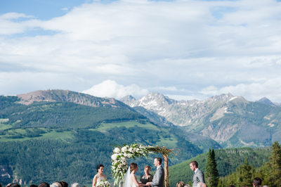 The 10th Wedding Ceremony Vail Mountain