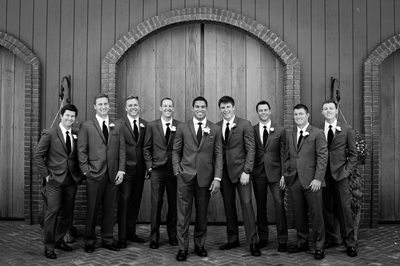 Groomsmen Portraits At Crooked Willow Farms