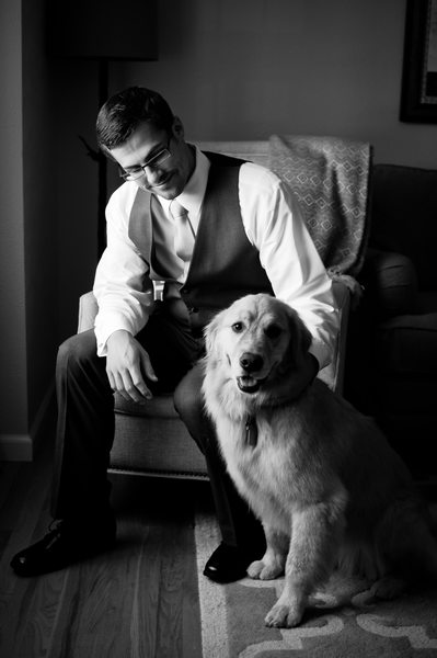 Groom Portrait With Dog