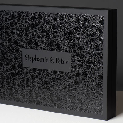 BLACK WEDDING ALBUM BOX WITH LUXURIOUS DECOR