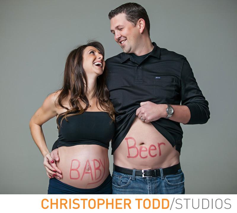 Fun Maternity Photo Shoot In Studio