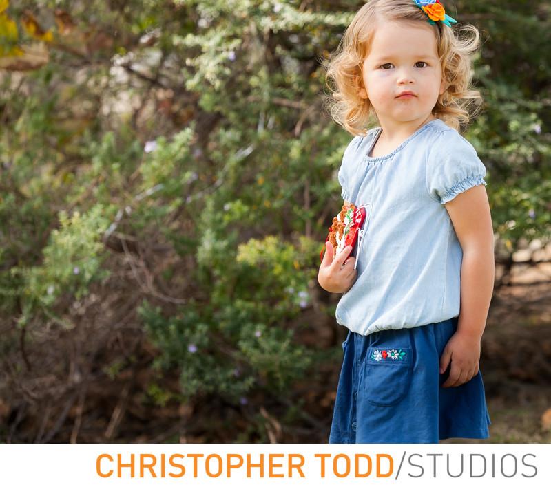 Little Girl in Huntington Beach Park