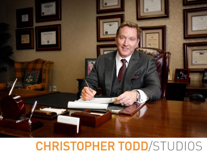 Attorney Portrait Magazine Cover Orange County