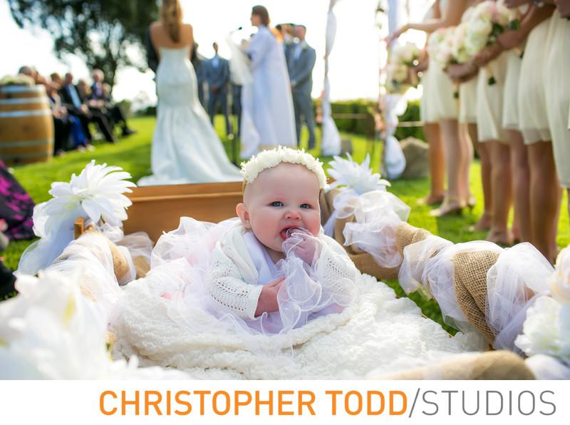 Callaway Vineyard Wedding Portrait of Flowergirl