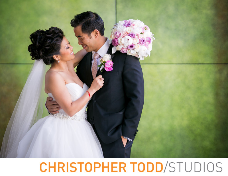 Skirball Cultural Center Photo of Bride and Groom