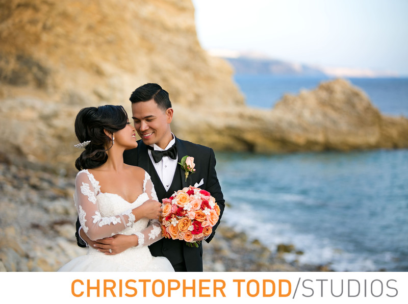 Bride and Groom Portrait at Terranea Resort