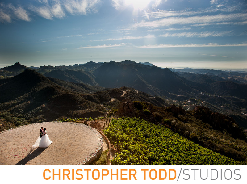 Helicopter Pad Malibu Rocky Oaks Featuring Bride & Groom