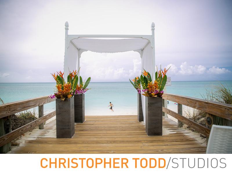 Destination Wedding Chuppah Turks Caicos