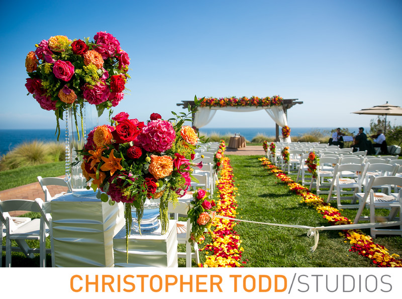 Florals at Terranea Wedding Ceremony