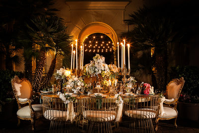 Revelry gold wedding Table