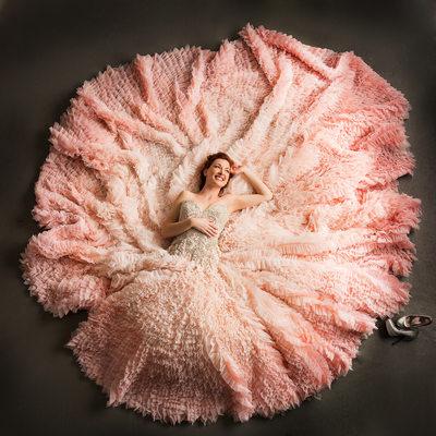 Designer Bridal Gown Ysa Makino Pink Wedding Dress