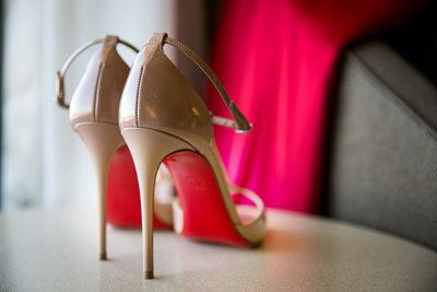 Brides Nude Louboutin Heels