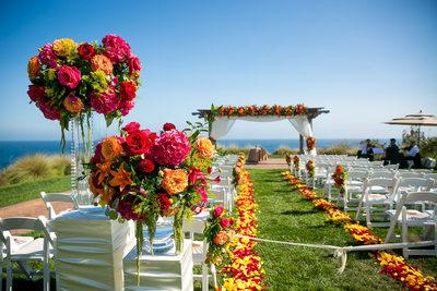 Florals at Terranea Wedding Ceremony