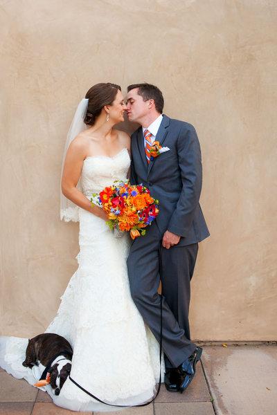 Serra Plaza Wedding Featuring Bride and Groom