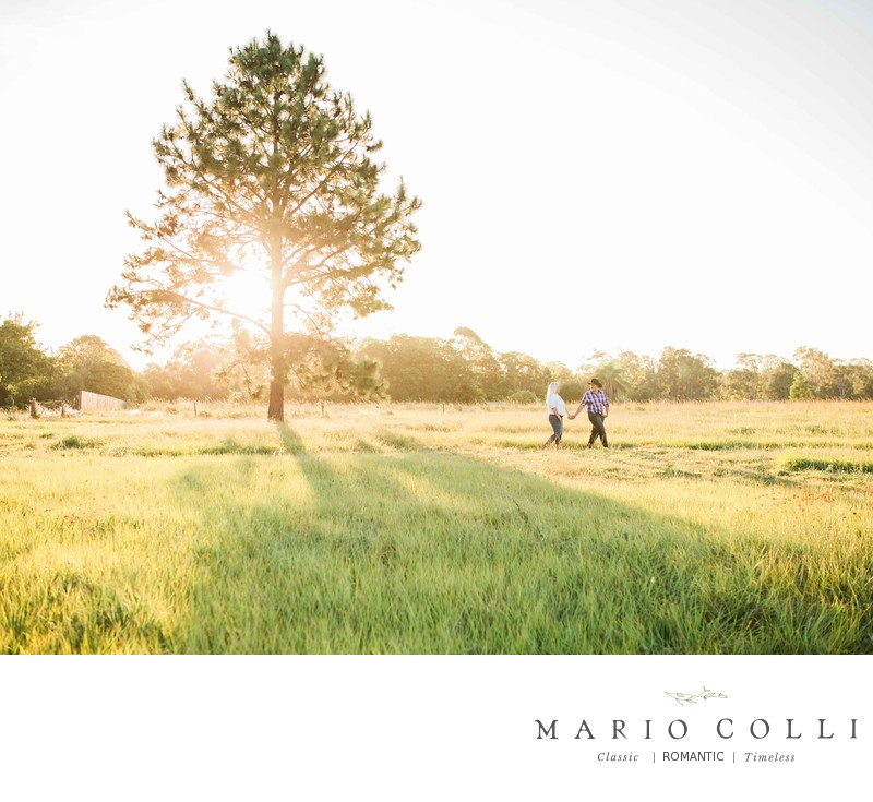 Country Sunset engagement photos