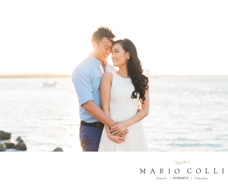 Natural Romantic Engagement shoot gold coast