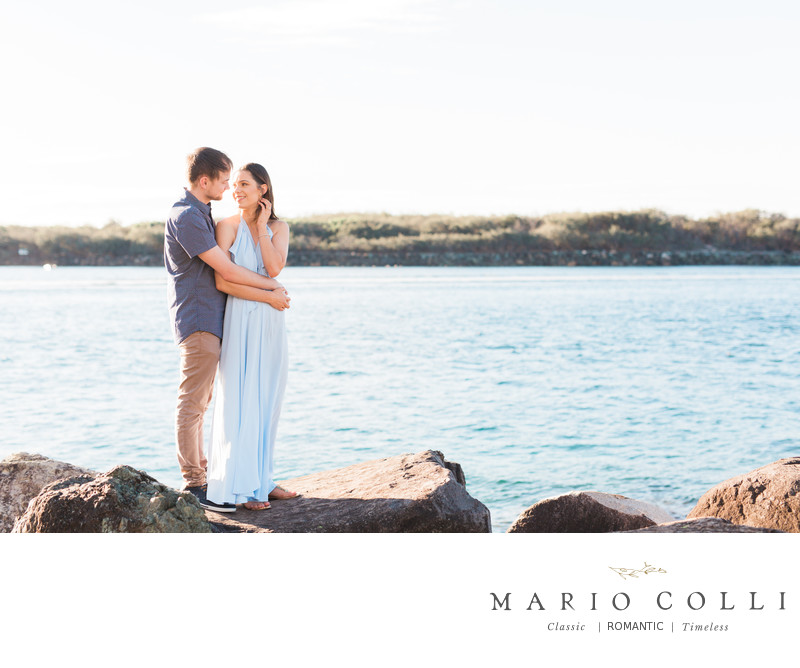 Soft Romantic engagement photos Gold Coast