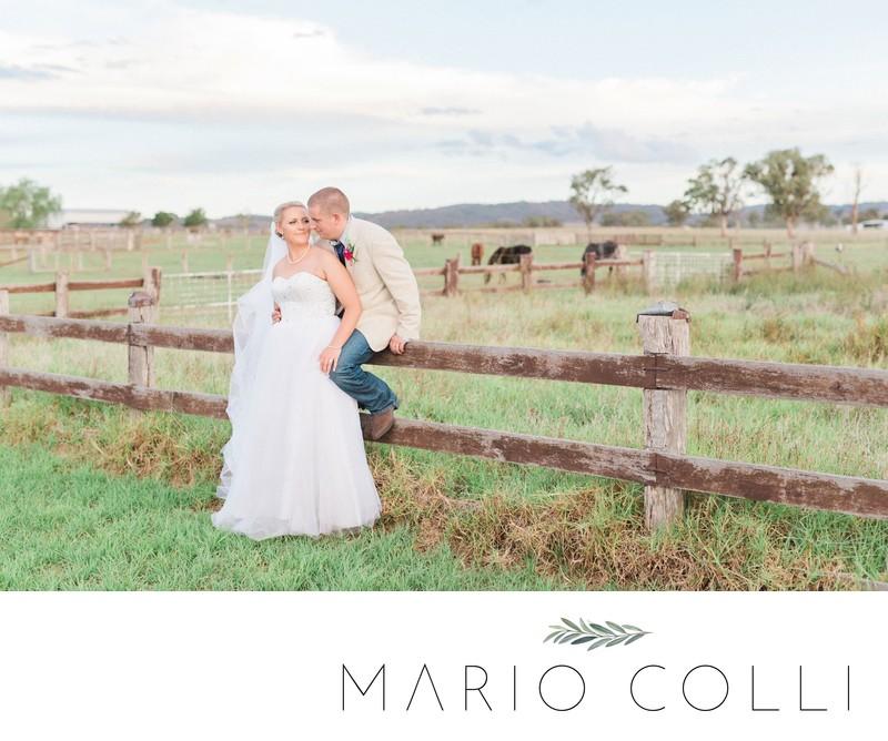 Country rustic wedding photographer