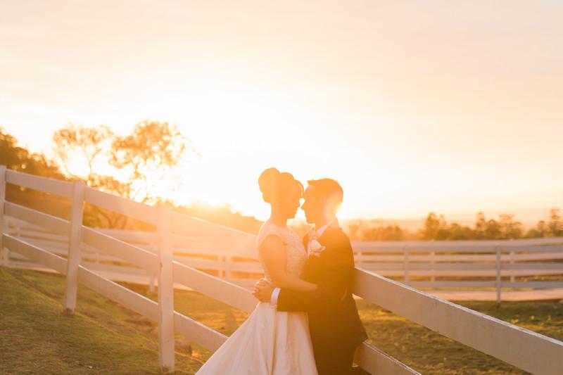 Toowoomba Sunset wedding photos