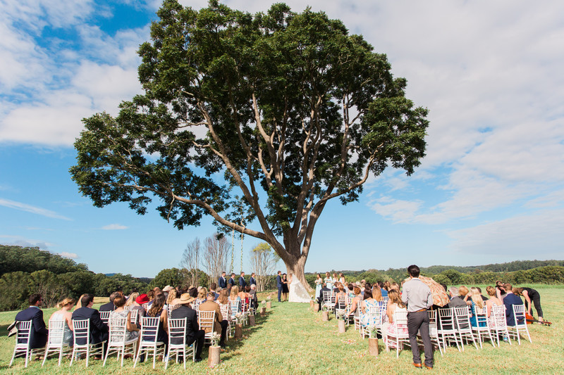 Cedar tree ceremony country wedding photographer