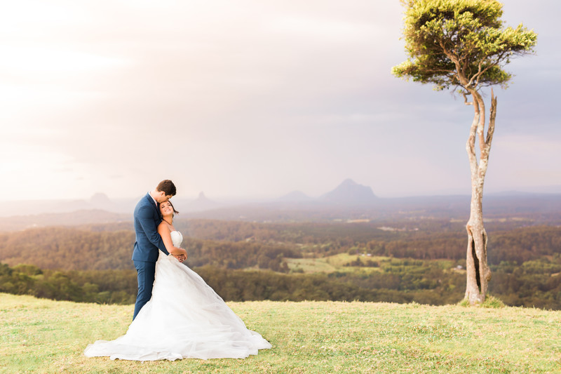 Sunshine Coast wedding photographer one tree hill