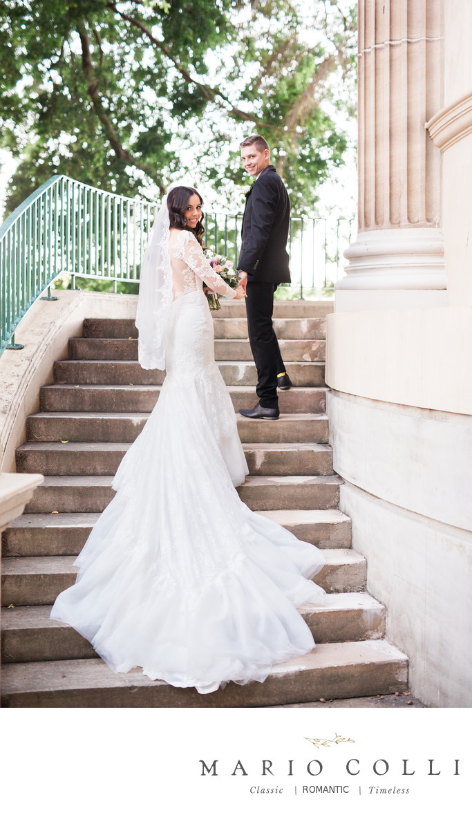 Romantic Classic wedding photographer Customs House