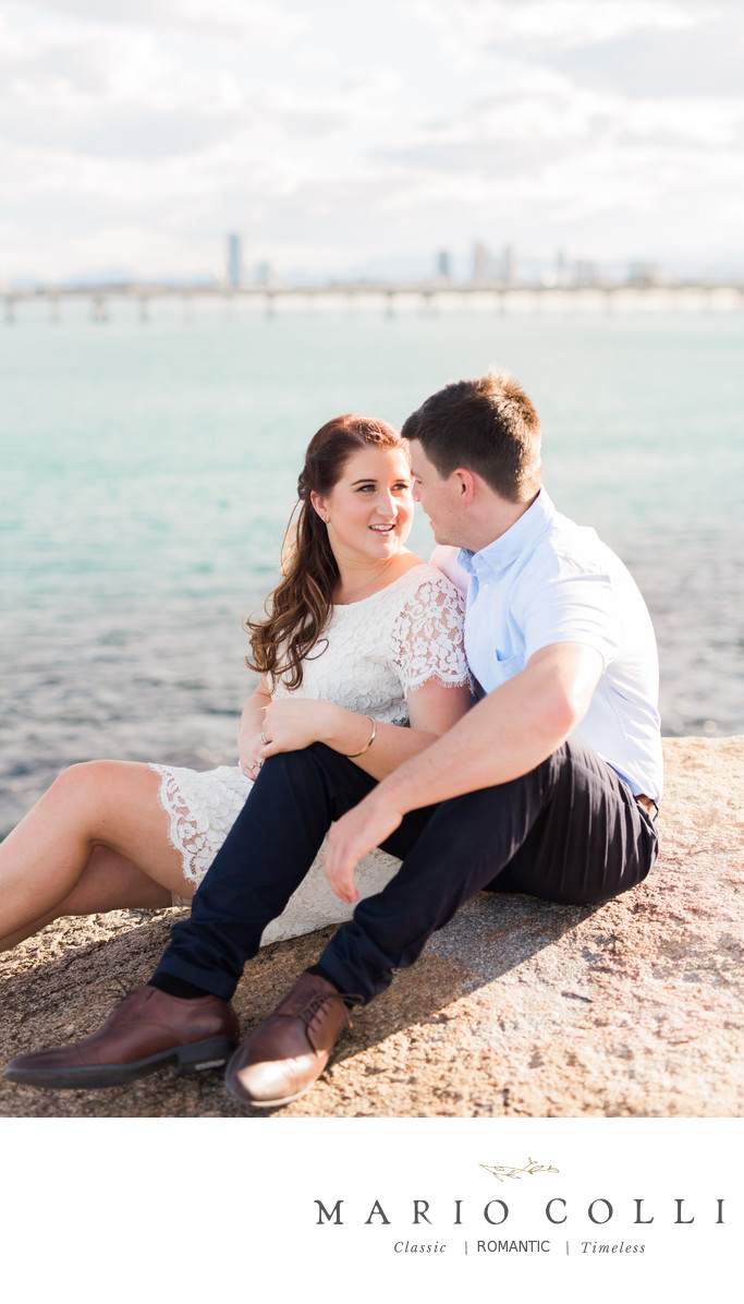 Beach engagement shoot gold coast spit 5