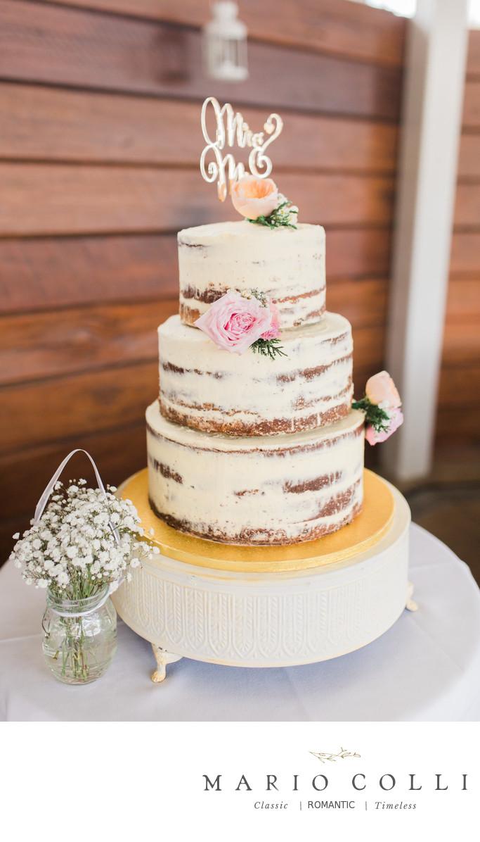 Naked wedding cake photo