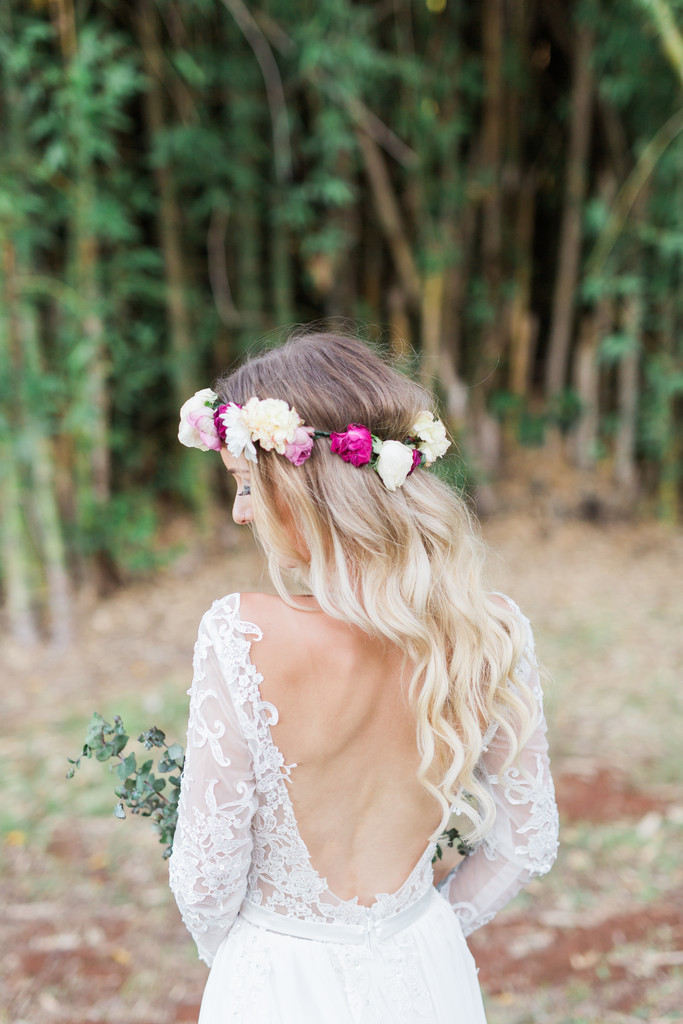 Flower Crown Wedding Photos