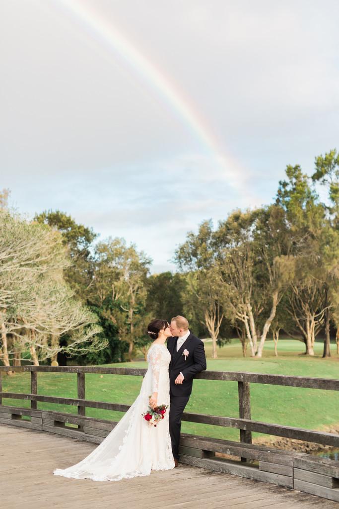 Rainbow wedding photos The Glades photographer