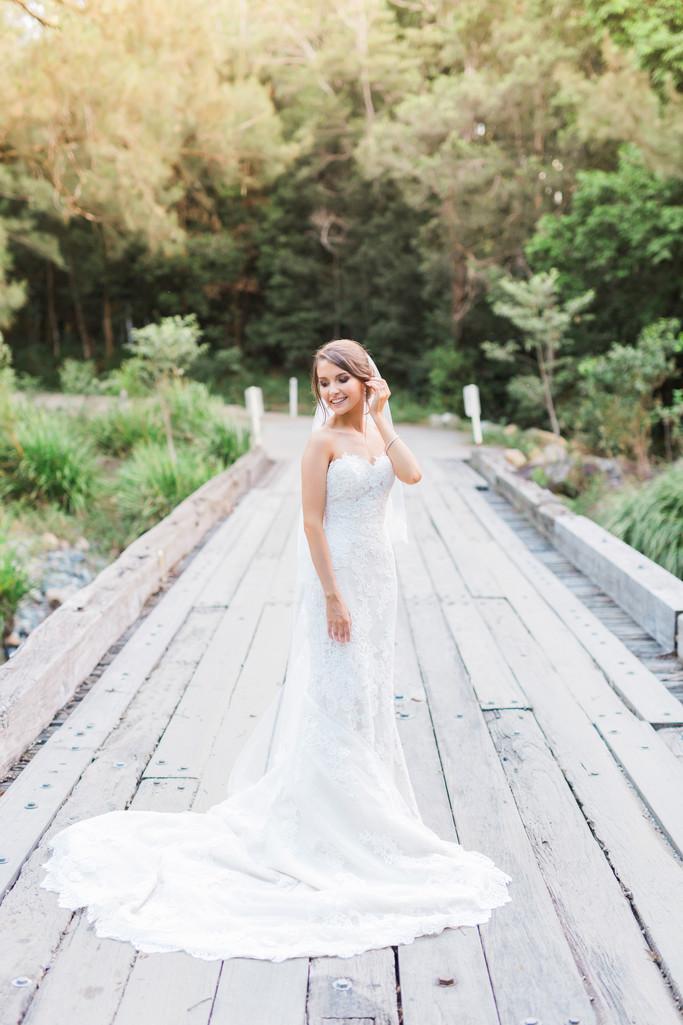 Bride portrait brisbane country wedding
