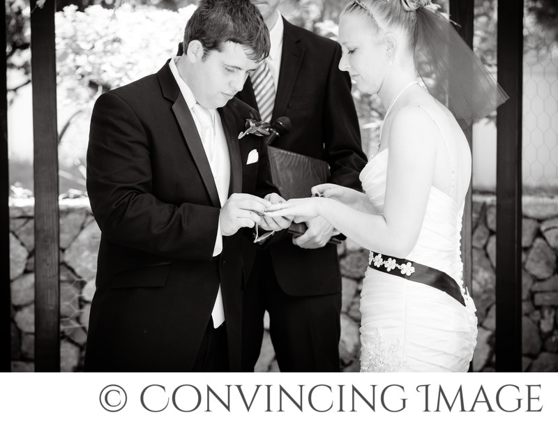Wedding Ceremony Photography at Old Rock church