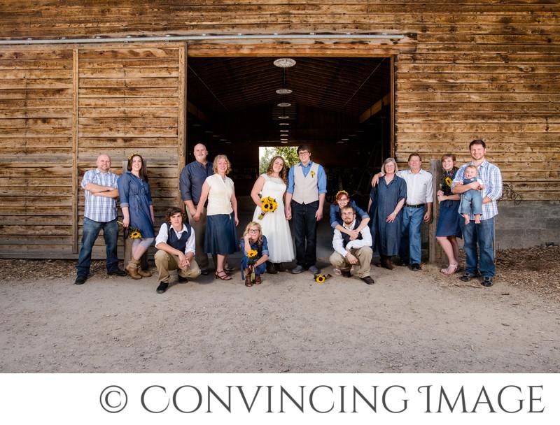 Wheeler Farm Wedding Family Group Photographer